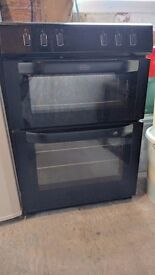 Belling Cooker double oven in Black