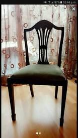 6 mahogany chair's