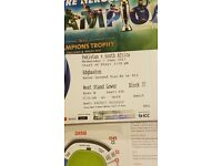 ** ICC Cricket Tourn Pakistan vs South Africa 3x Gold* Tickets********