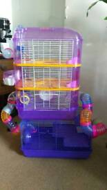 Custom 4.5 floor hamster cage, excellent condition