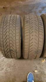 """BMW 18"""" alloys with winter tyres"""