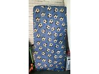 Small blue football matress