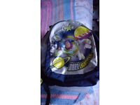 Buzz Lightyear backpack two large zipped pockets. All zips and shoulder straps work