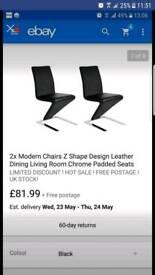 Z shape chairs x2