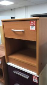single 1 drawer bedside with shelf
