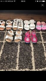 6 pairs of sandals size 5