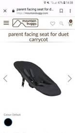 Mountain buggy duet parent facing fabric for carrycot