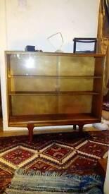 60s Macintosh teak display cabinet