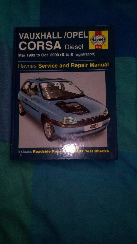 Vauxhall Corsa/opel Deisel 1993-2000 (K to X Reg) Haynes Manual new perfect condition never opened