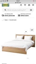IKEA oak malm kingsize bed with 4 drawers