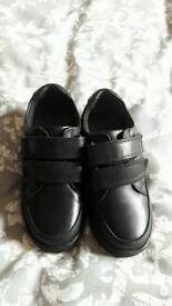Black TESCO School Shoes size 10