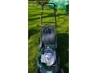 Webb quantum 675ex petrol lawnmower good working order self propelled with grassbox