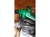 Leaf blower/vacuum with bag