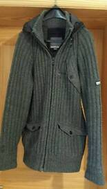 Mens Duck and cover hooded cardigan
