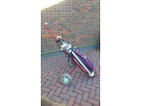 Ladies' Golf Clubs and Trolley