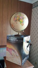 Large Illuminated Globe from W H Smith