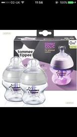 Tommee Tippee anti colic bottles new born