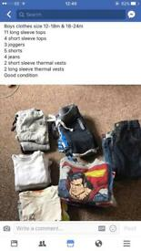 Boys clothes size 12-18 & 18-24