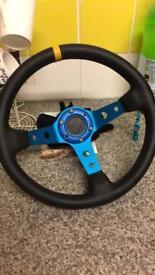 Deep dish steering