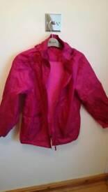 Pink girls raincoat