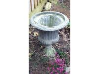 Pure lead antique flower urn