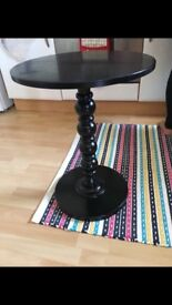 Small black side table excellent condition
