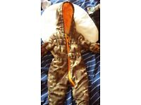 Boys 3-6 months all in one snowsuit camouflage khaki