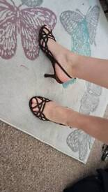 Brown sandals size 4 new barratts