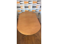 Retro Vintage Mid Century D End Style Extending Nathan Teak Dining Table