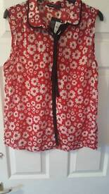Brand new with tags size 16 sleeveless blouse