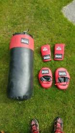 Lonsdale Punch Bag / Gloves and Pads