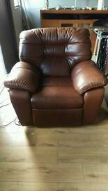 Electric leather recliner armchair