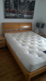 Double bed with mattress £100