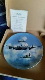Coalport aeroplane plates