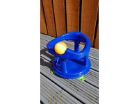 Blue swivel baby bath seat £5