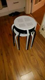 4 stackable stools