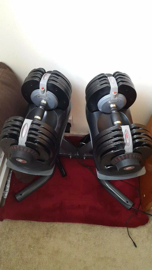 Bodymax 2 x 5 kg - 32.5kg (11lb - 71lb) Selectabell & Stand