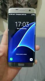 Samsung Galaxy S7 EDGE 32GB Silver Color Unlocked Excellent Condition As like New