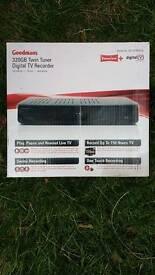 Goodmans 320gb twin tuner digital freeview recorder
