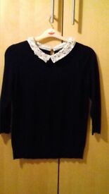 Dark blue top from bonmarche size 6