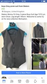 Boys prom suit grey from Slaters