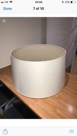 Large white Standard Lamp shade