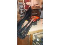 Stagg hard case for les paul type guitar