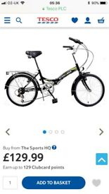 Folding bike Used once Genuine reason for sale