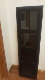 Black sturdy ikea 5 shelves unit. Good condition.