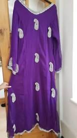 Brand new Asian Purple long dress