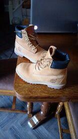 "Timberland Boots UK size 5, Classic 6"" Nubuck, near perfect condition."