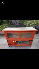 Hutch, two tier, excellent condition
