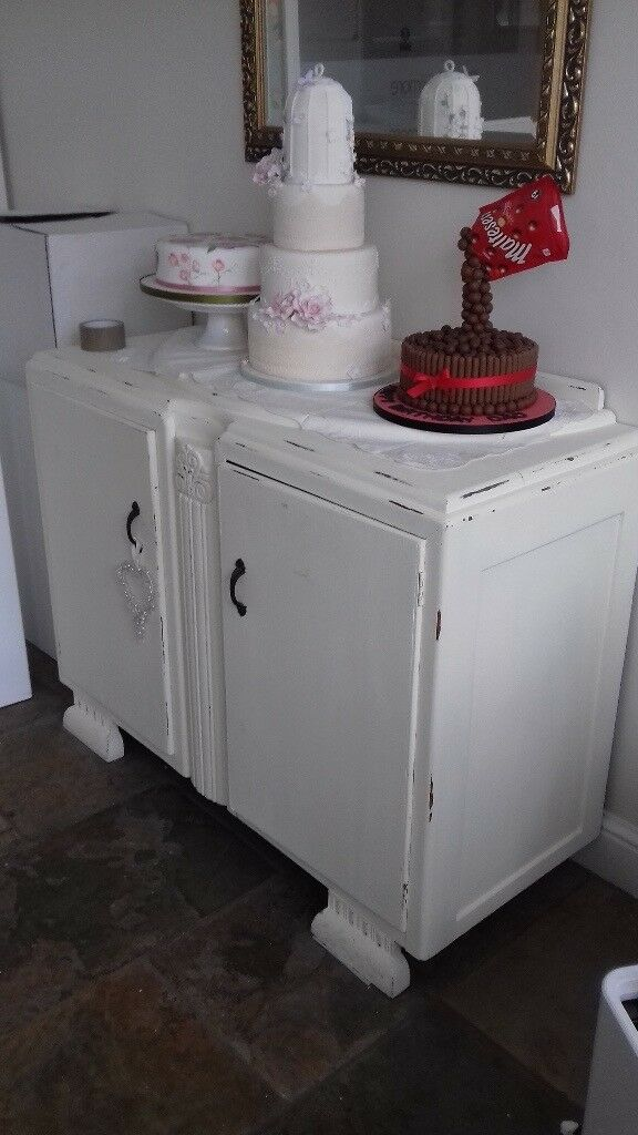 vintage shabby chic wooden sideboard