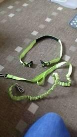 Dog walking belt, collar, LED collar